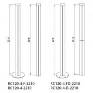 Complete uprights, 120x120mm