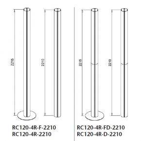 Complete uprights, ø120