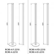 Complete uprights, 80x80mm