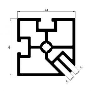 Corner profile SF-44-44-2