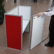 Sliding doors, folding counters