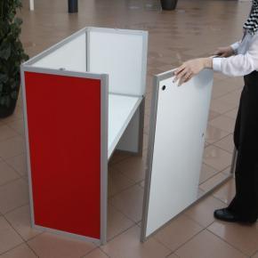 Sliding doors, folding counters