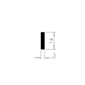 PVC  profile, 1105-17