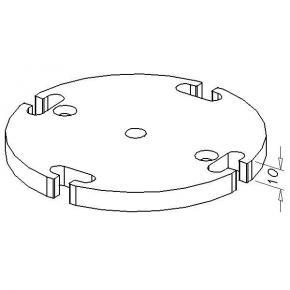 Bottom plate, D120-4R-6G/M10