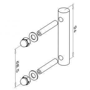 Assembly pin, PC120-25-1