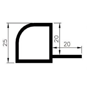 25mm quarter round profile R25-2R