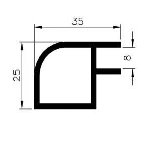 25mm quarter round profile R25-5R