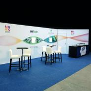 Bespoke stands with stretched fabric graphics